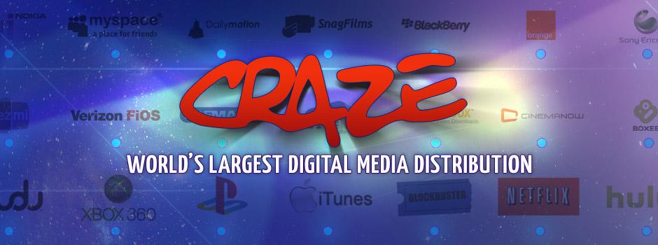 Craze Digital specializes in digital content distribution & content licensing
